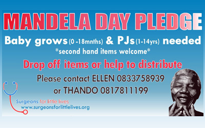 Pledge with SFLL on Mandela Day